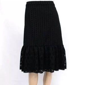 Anthropologie Moulinette Soeurs Black Skirt, S